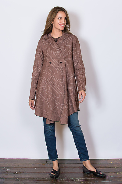 Swerve Stitch Coat in Toffee