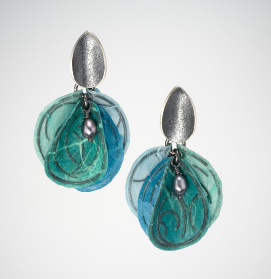 Aqua Blossom Earrings by Carol Windsor