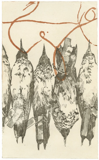 Collection by Barbara Stikker is a two-plate etching that incorporates several aquatint techniques.