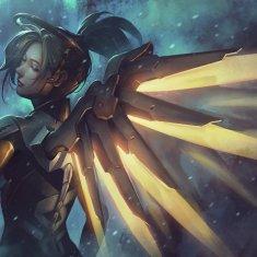 Mercy Overwatch Fanart by Krisedge