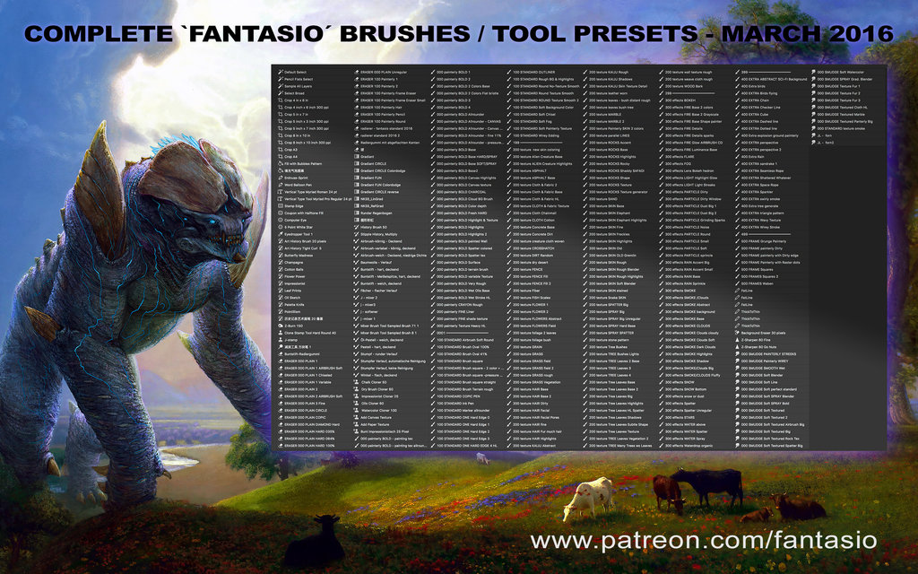 Fantasio Brushes And Tool Presets