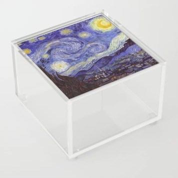 Vincent Van Gogh Starry Night Acrylic Box