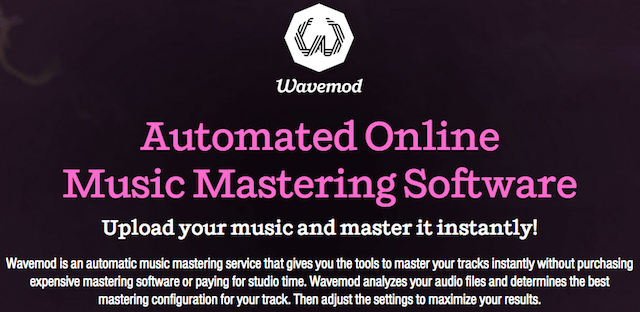 Wavemod, jasa mastering instan berbasis web