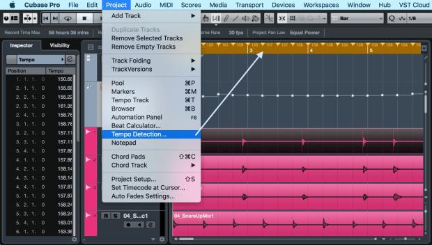 Fitur baru Cubase Pro 8.5 yaitu 'Tempo Detection' untuk mendeteksi tempo lagu