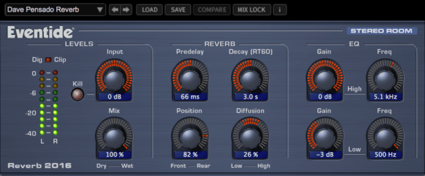 Eventide 2016 Stereo Room Reverb
