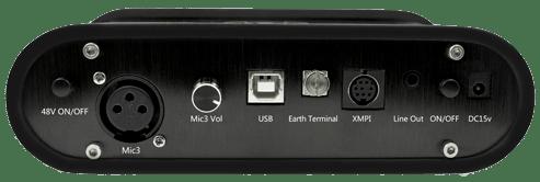 Tampak belakang audio interface XOX KS105