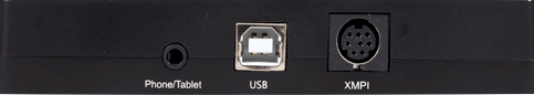Tampak belakang audio interface XOX KS108