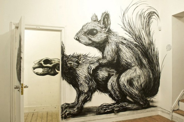 Roa, Pure Evil Gallery, Street Artistes