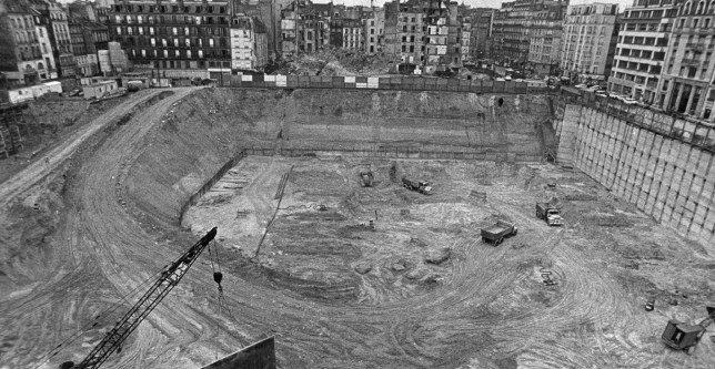 Building site of the Pompidou Center, 1972