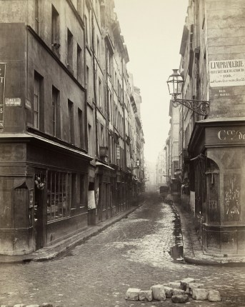 Popmpidou, Rue Beaubourg 1866 ©Charles Marville