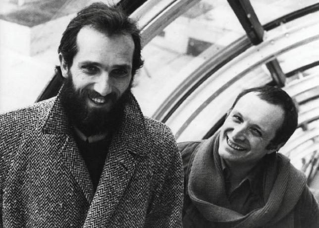 Les deux architectes, Renzo Piano et Richard Rogers, 1977