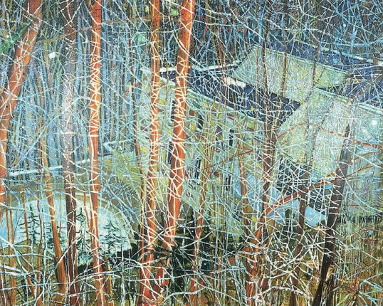 Peter Doig, The Architect's home in the ravine, huile sur toile, 1991