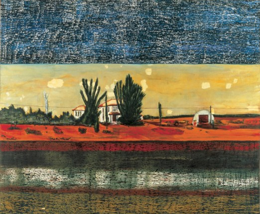 Peter Doig, Grasshopper, oil on canvas
