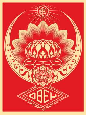 Obey-LOTUS-ORNAMENT-Red