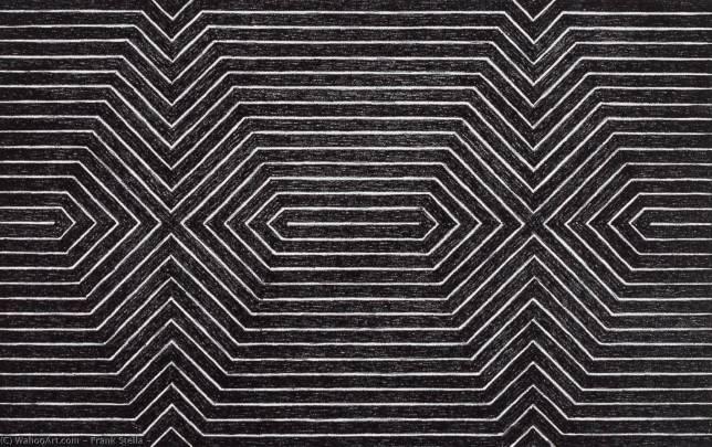 Frank Stella - papier - 1967