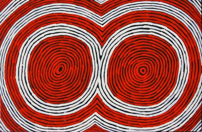 David Albury Tjampitjinpa art aborigene