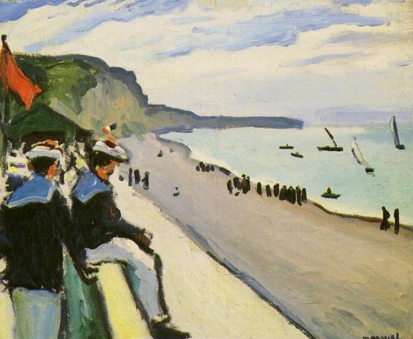 ALBERT MARQUET - La plage de Fécamp, 1906