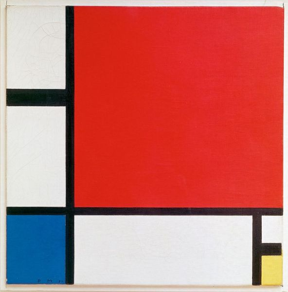 Composition II in red, blue and yellow (1930)