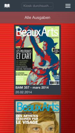 Application magazine Beaux Arts
