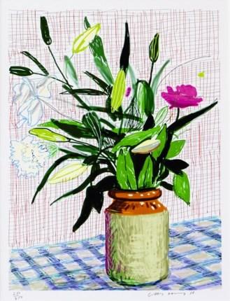 IPad drawing lilies, 2010