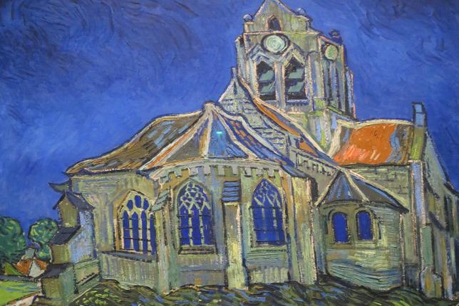 Auvers-sur-Oise Church painting Van Gogh
