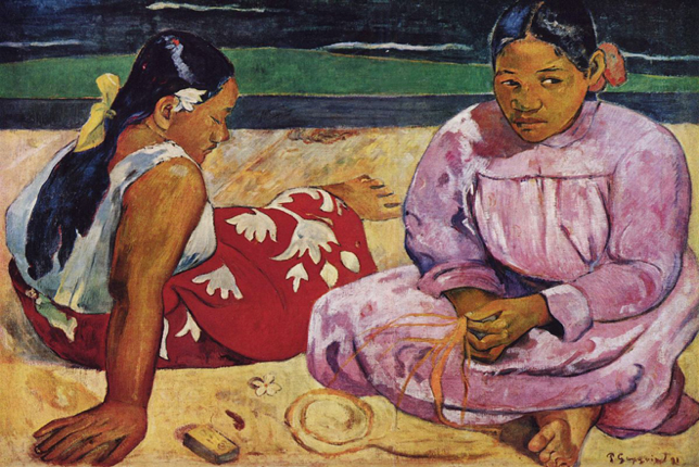 Gauguin Impressionism Tahitian Women on the Beach
