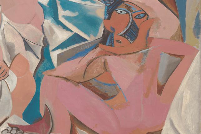 Picasso les demoiselles d'avignon femme accroupie