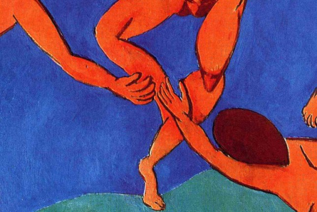 Matisse painting circle close up green blue
