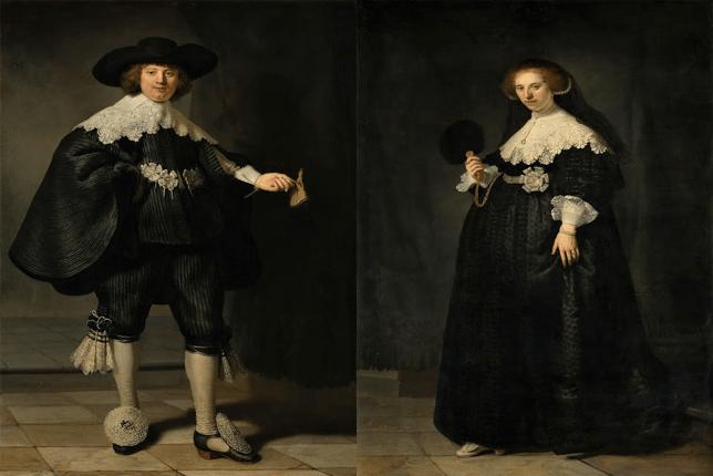 Rembrandt Marten Soolmans Oopjen Coppit Louvre Rijksmuseum
