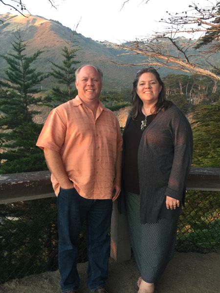 Hubby and I near Big Sur