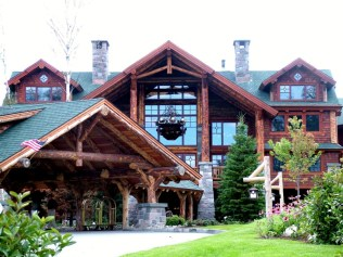 The Whiteface Lodge wooden style hotel / resort