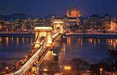 Chain Bridge, Budapest - Christmas Vacation in Europe