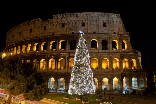 Colosseum Christmas Rome - Christmas Vacation in Europe