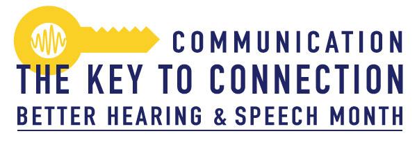 Better Hearing Speech Month logo