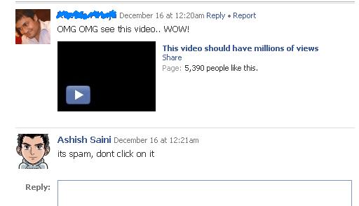 fb spam