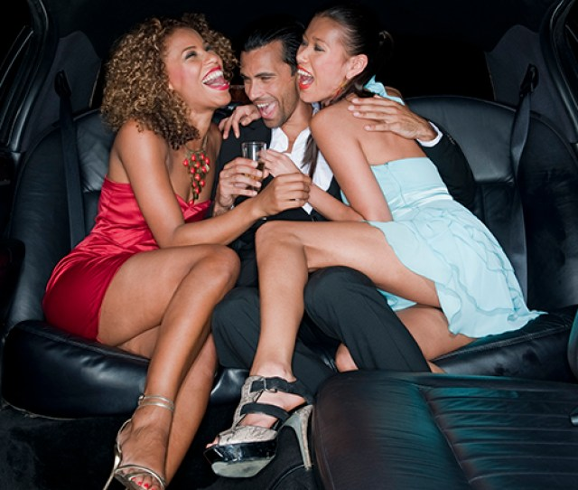 Two Young Women Enjoying The Company Of A Young Man For A Possible Threesome In The