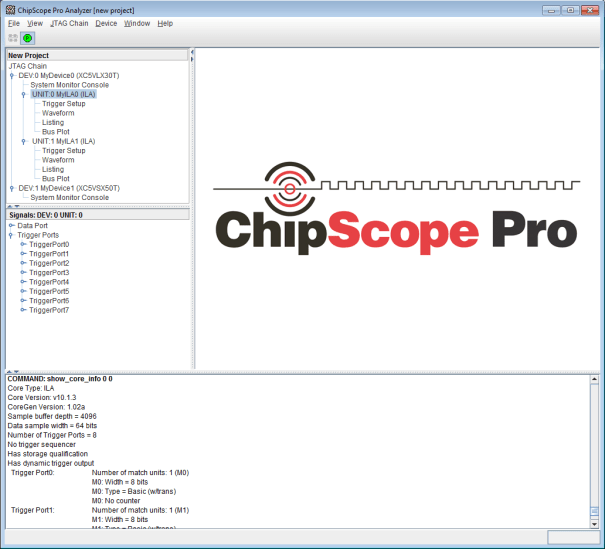 ChipScope Pro with ILAs