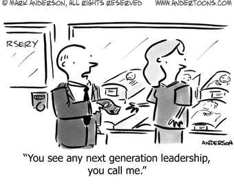 Next-Generation Leadership Cartoon from Andertoons.com