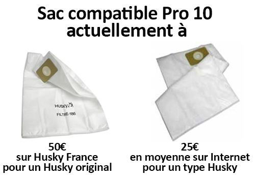 Différence de prix entre un sac Husky et un sac type Husky