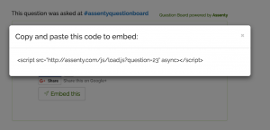 Copy and paste the embed code
