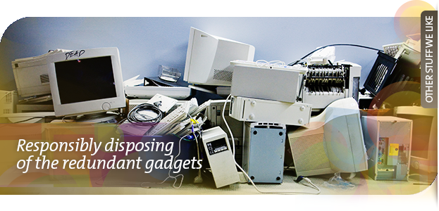 Responsibly disposing of the redundant gadgets