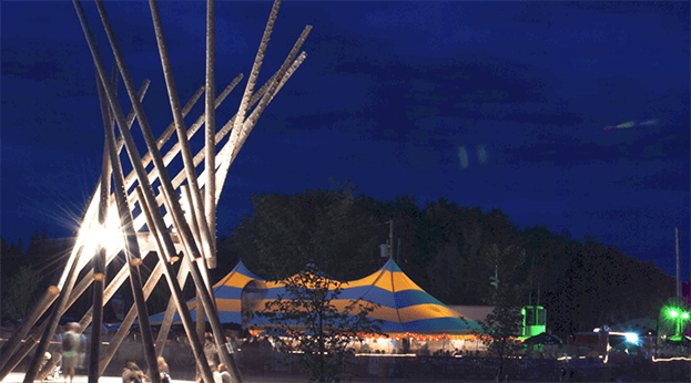 Beer Tent and music tent at Winnipeg Folk Festival