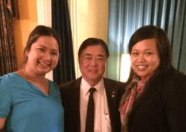 Millie Acuna, Jiliane Miranda and his Honour Philip S. Lee
