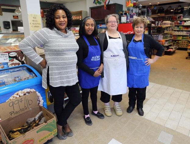 Local entrepreneur Elizabeth Lawal and the team from Akin's International Foods in Winnipeg