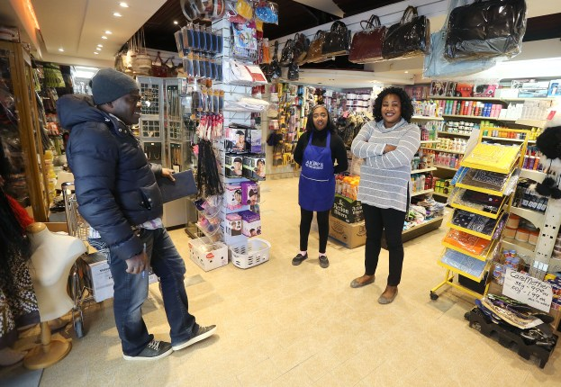 Local entrepreneur Elizabeth Lawal at her store, Akin's International Foods in Winnipeg