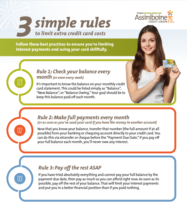 Credit card statement - 3 simple rules to limit credit card costs