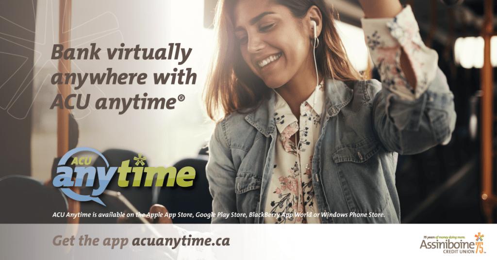 Bank Virtually anytime with ACU Anywhere - grow your savings