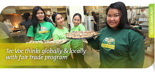 Tec Voc thinks globally & locally with fair trade program