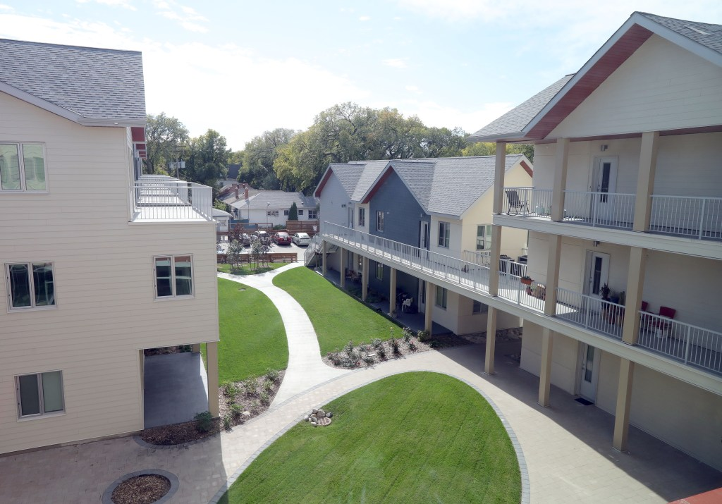 Old Grace Housing Co-op: The courtyard