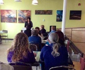 Artist talk, at Neechi Commons, Lisa Delorme Meiler, Awakened Spirit